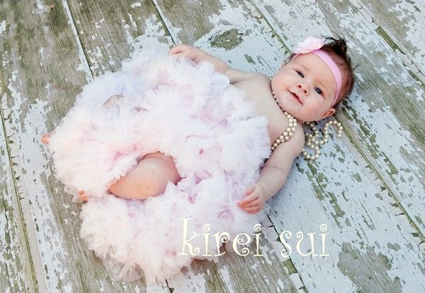 Light Pink with White Ruffles Pettiskirt-light pink, white, lt. pink, baby pink, newborn