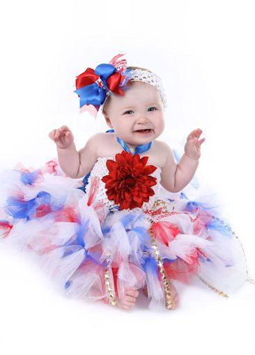 Oh My Stars & Stripes Fourth of July Tutu Dress