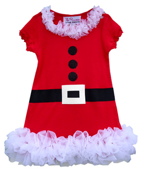 Mrs Claus Ruffle Christmas Dress