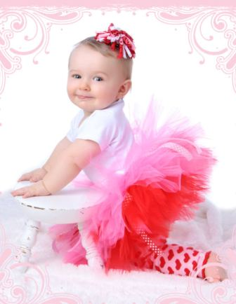 Pinkalicious Two Toned Red & Pink Valentine Tutu-red, pink, valentines day tutu, infant, baby girl