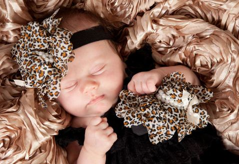 Little Miss Leopard Baby Girl Lace Pettiromper Outfit