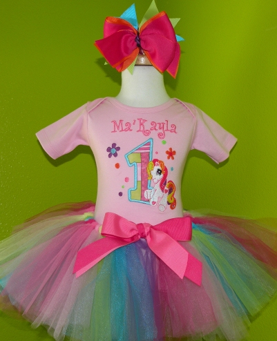 My Little Pony Tutu Outfit Set-colorful, party, birthday, infant, baby girl, boutique