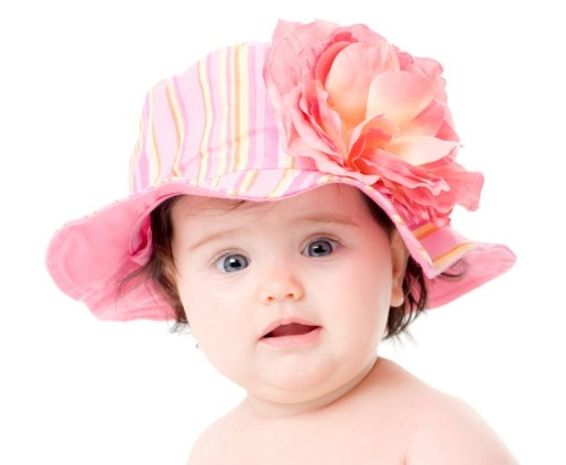 Candy Pink Rose Stripe Sun Hat