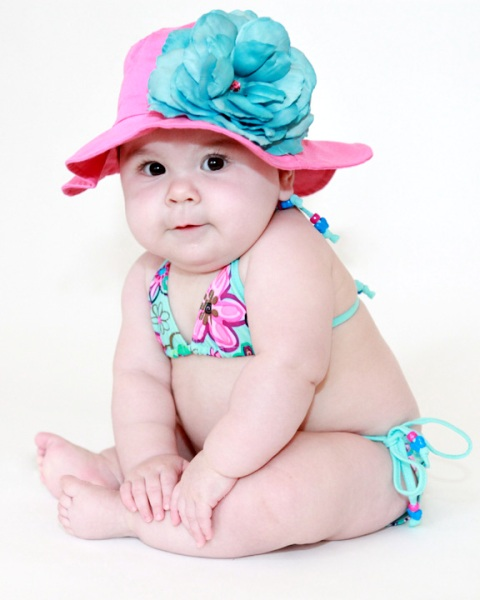Raspberry Teal Rose Sun Hat