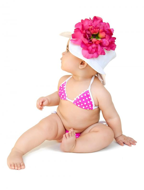 White Raspberry Peony Sun Hat-summer, pool, beach, sun hat