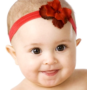 Red Garden Geranium Flower Headband-red