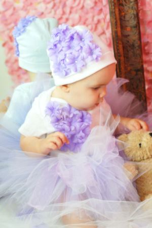 Sweet Spring Lavender Girls Chiffon Tutu Skirt