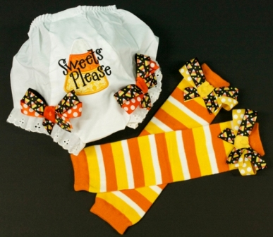 Sweets Please Candy Corn Bow Bloomers