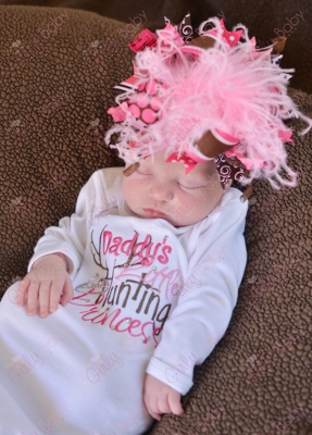 Daddy's Little Hunting Princess Newborn Gown