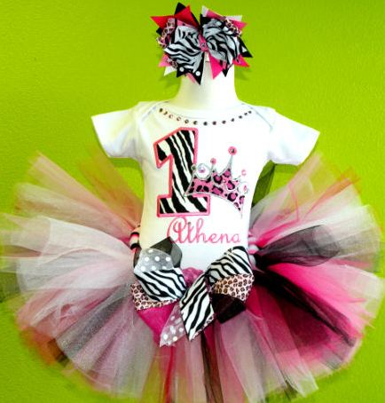 Ultimate Wild Princess Zebra Pink Cheetah Tutu Outfit Set-hot pink, animal print, birthday, diva, cheetah, zebra, leopard, princess