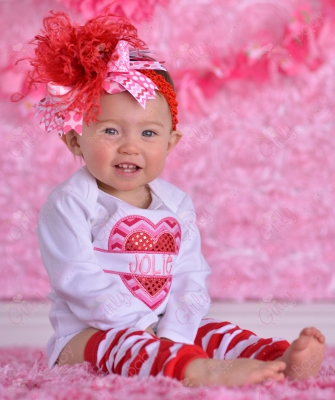 Valentine Sequin Heart Personalized Chevron Shirt-hart, love, chevron, red, pink, hot pink, white, sequin, onesie, shirt, outfit, set, valentines, valentine's, day