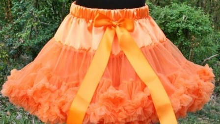 Girls Orange Ruffle Pettiskirt-orange, halloween, pettiskirt, petti skirt, ruffle