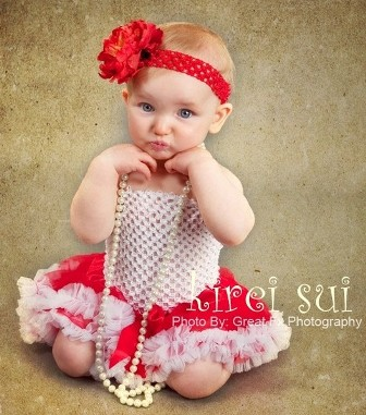 Red & White Newborn Christmas Pettiskirt-red and white, holiday, christmas, pettiskirt