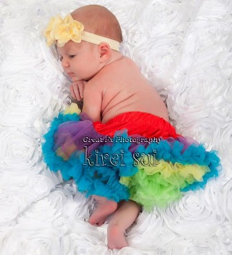 Newborn Rainbow Pettiskirt-rainbow, colorful