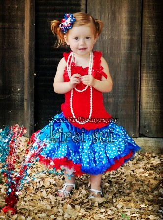 Blue Star Patriotic Toddler Ruffle Pettiskirt