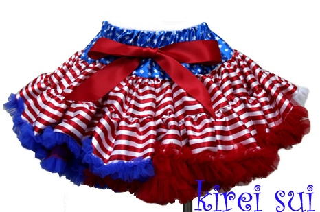 Flag Girl 4th of July Blue Star Red Stripes Ruffle Pettiskirt-red, white, blue, pettiskirt, july, 4th, 4th of july, stars, stripes, patriotic, american