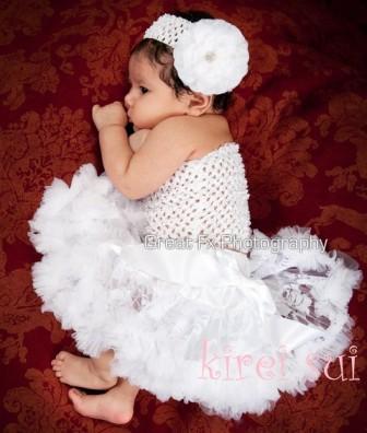 Newborn White Lace Pettiskirt-fancy, lace, dedication, baptism, christening, baby girl