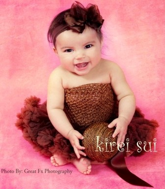 Newborn Baby Brown Pettiskirt-fall, thanksgiving, brown, newborn, pettiskirt