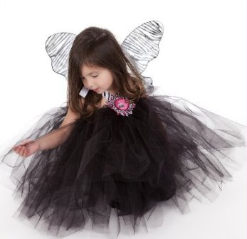 Zebralicious Fairy Wing Tutu Dress Set