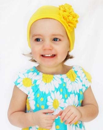 Yellow Garden Geranium Flower Hat-bright yellow, yellow, hat