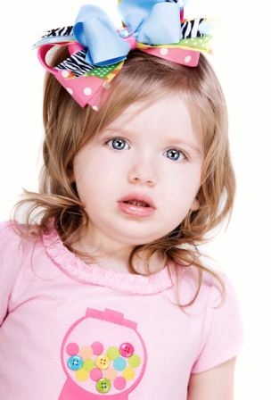 Zebra Fun Polka Dot Headband Hair Bow-infant, babym headband, boutique hairbow, girl, colorful