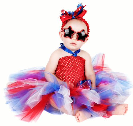 All American Princess & Stars 4th of July Baby Tutu Dress