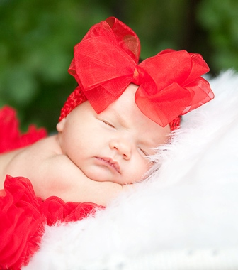 Red Chiffon Luxe Hair Bow Headband