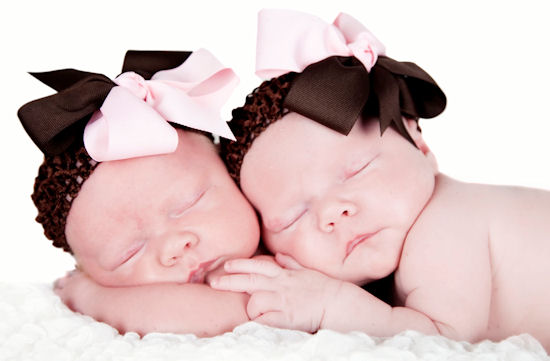 Strawberry & Chocolate Twist Baby Headband-pink and brown, infant, baby headband, hairbow