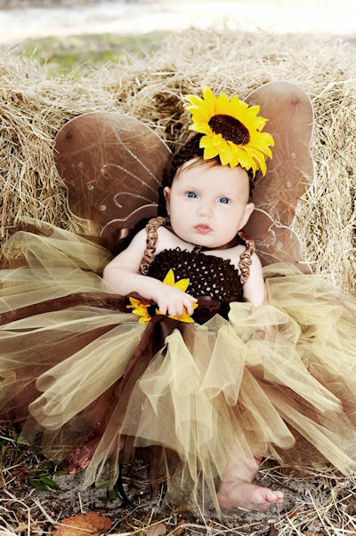 Autumn Elegance Sunflower Tutu Dress