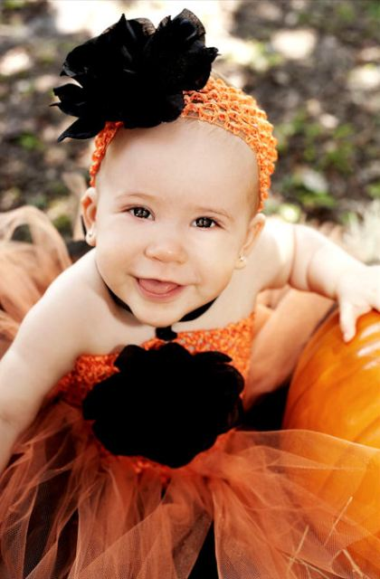 Halloween Budding Beauty Couture Rose Tutu Dress