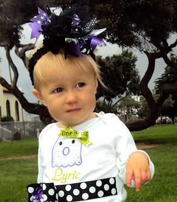 Spooky Spider Purple Halloween Over-The-Top Hair Bow Headband