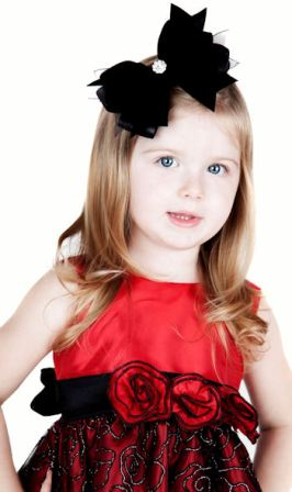 A Posh Holiday Velvet Jewels Hair Bow Headband