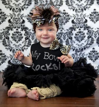 My Bow Rocks Couture Baby Bling Onesie