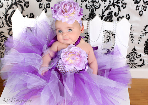 Lilac Decadence Rose Garden Tutu Dress in Lilac and Purple