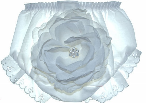 Blushing Blooms Baby Garden White Peony Diaper Cover