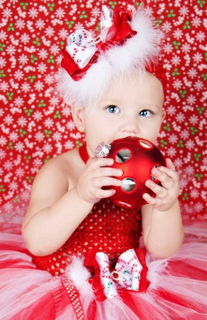 Candy Cane Sweetie Glitz Couture Baby Tutu Dress
