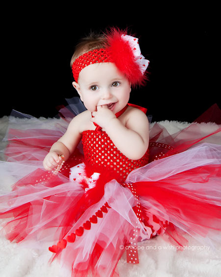 Love Hearts Baby Valentine Crochet Tutu Dress