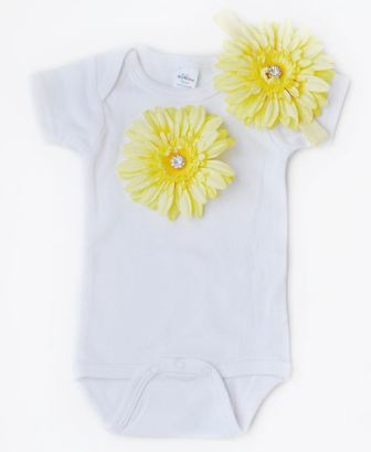 Blooming Baby Sunshine Daisy Bloom Onesie