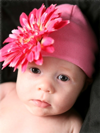 Candy Pink Daisy Flower Hat-hot pink, flower hat, daisy, hat, knit hat, newborn