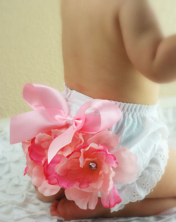 Blushing Baby Garden Diaper Cover Bloomers