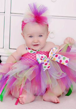 Birthday Party Glamour Polka Dot Baby Tutu Dress