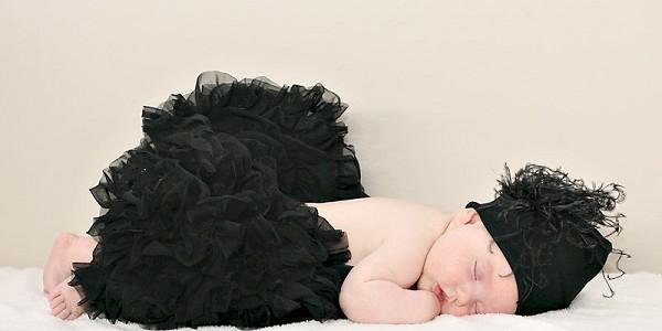 Classy Black Newborn Pettiskirt-