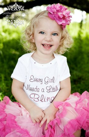 Every Girl Needs A Little Bling Rhinestone Shirt-pink, white, tee shirt, top