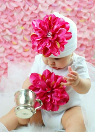 Blooming Baby Hot Pink Flower Onesie