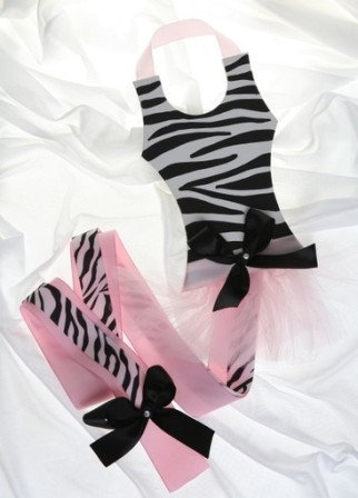 Zebra Handpainted Tutu Hair Bow Holder