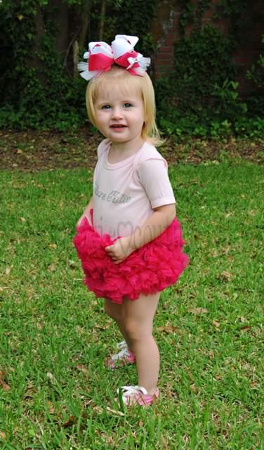Hot Pink Couture Cutie Bling Tutu Onesie