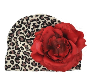 Red Rose Leopard Hat