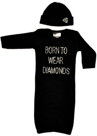 Born to Wear Diamonds Infant Bling Set