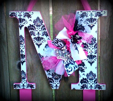 Damask Diva Hair Bow Holder