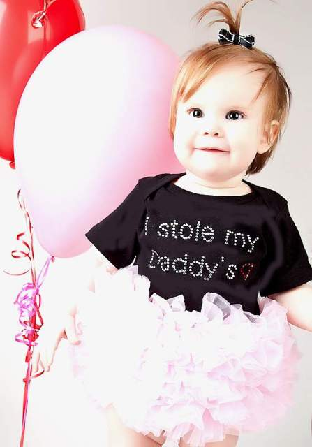 Black & Pink Daddy's Heart Tutu Onesie-infant, baby girl, boutique clothing, tutu onesie,
